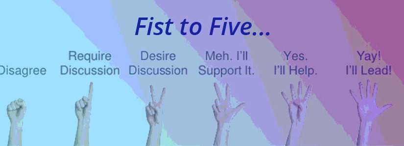 Fist to Five to Achieve Consensus